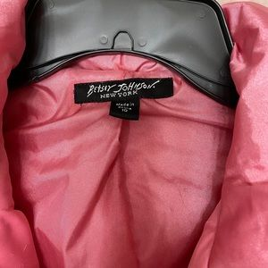 Betsey Johnson winter coat/ jacket pink in color